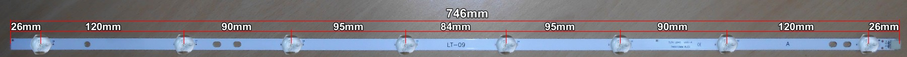 Диодна лента 1бр. LED Backlight 17DLB40VXR1 LB40017 V0_03 A-TYPE