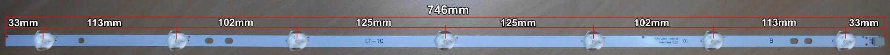 Диодна лента 1бр. LED Backlight 17DLB40VXR1 LB40017 V0_03 B-TYPE