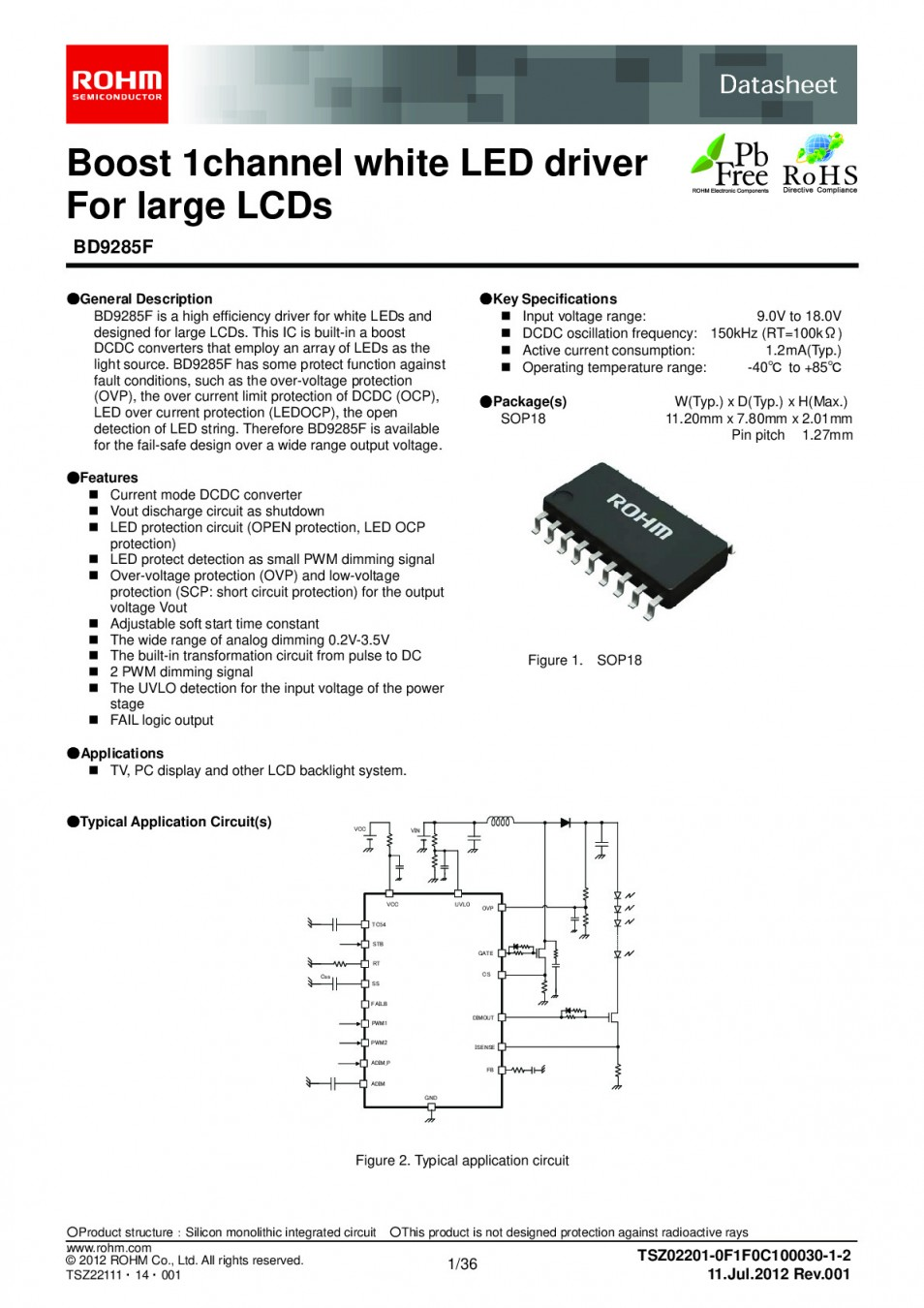 Интегр.схема BD9287FP SOP-18