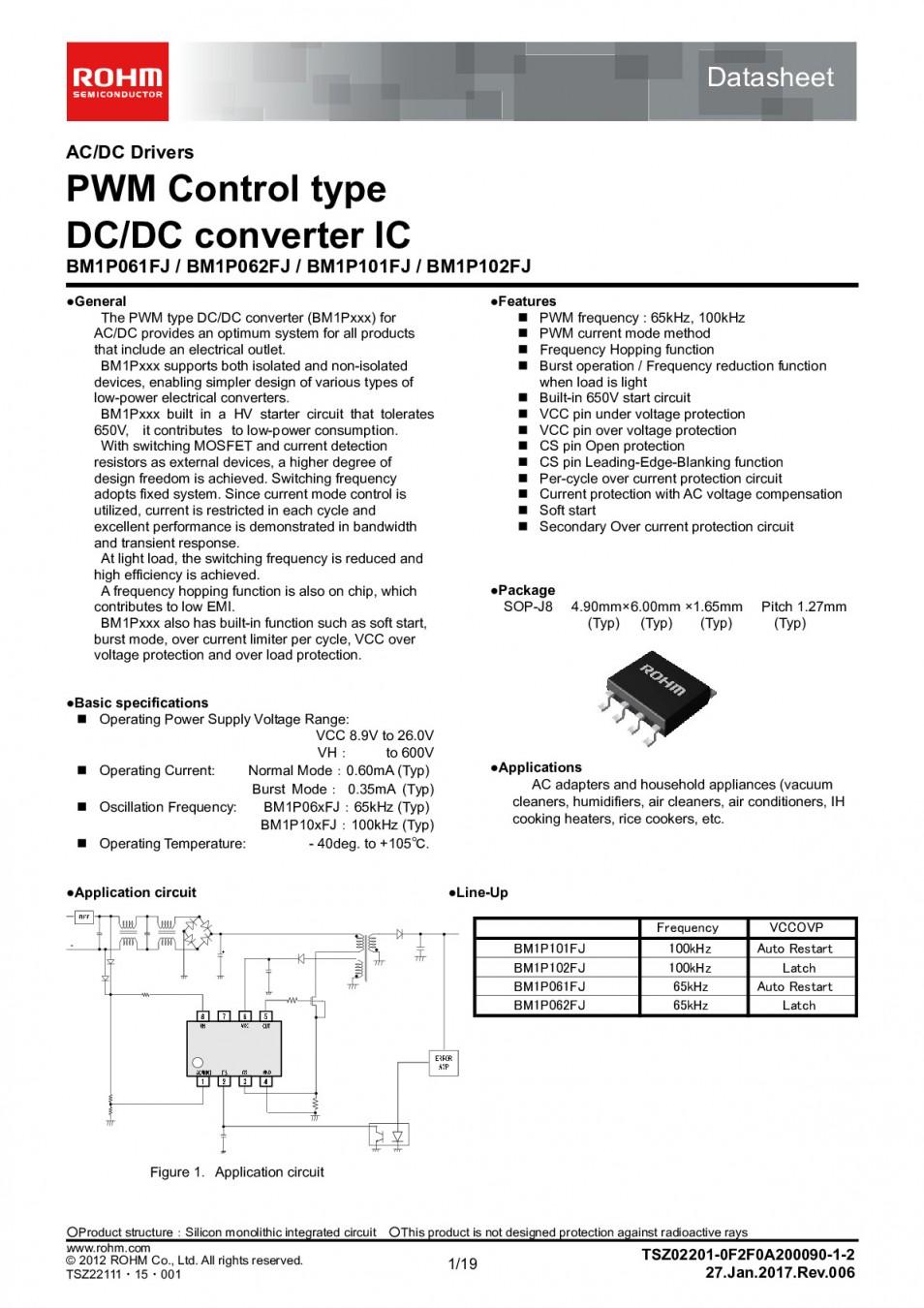 Интегр.схема  BM1Q001FJ-E2  SOP-8
