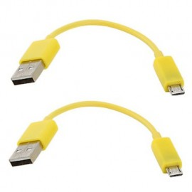 CABLE USB - MICRO USB YELLOW