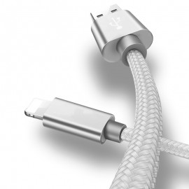 CABLE USB-LIGHTNING IPHONE 1.0m 2.4A