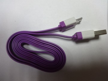 CABLE USB - MICRO USB PURPLE